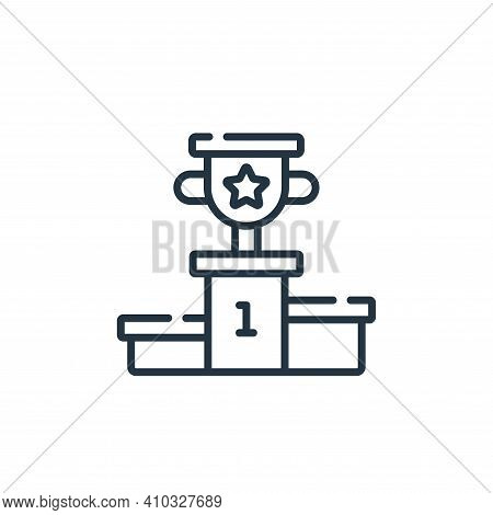 podium icon isolated on white background from videogame collection. podium icon thin line outline li