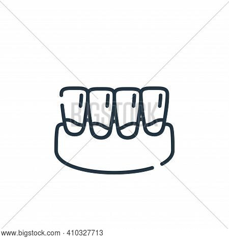 plaque icon isolated on white background from dental care collection. plaque icon thin line outline