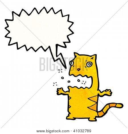 cartoon cat burping poster