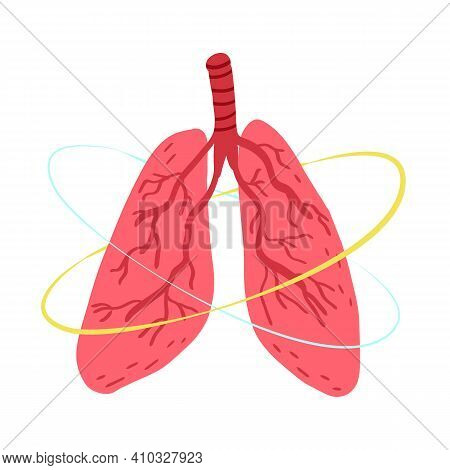 Pneumonia, Bronchial Infections Awareness, Prevention Disease Concept. Healthy Human Lungs And Prote