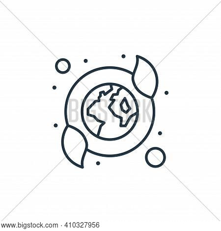 nature icon isolated on white background from earth day collection. nature icon thin line outline li