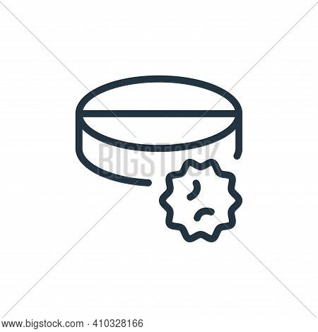 meds icon isolated on white background from coronavirus collection. meds icon thin line outline line