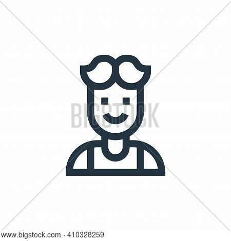 man icon isolated on white background from people collection. man icon thin line outline linear man