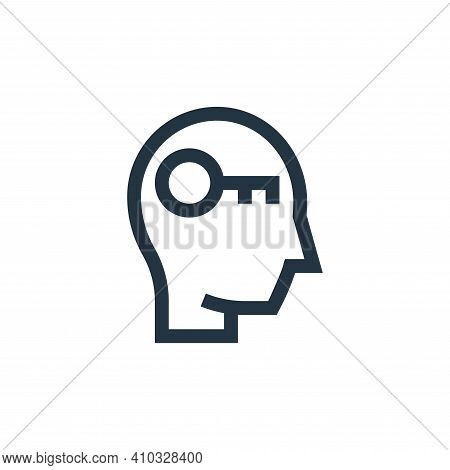key icon isolated on white background from management collection. key icon thin line outline linear