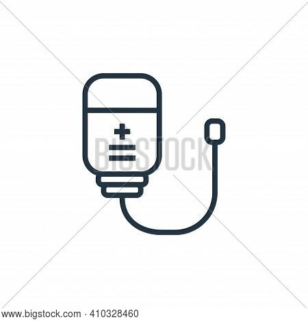 infuse icon isolated on white background from hospital collection. infuse icon thin line outline lin