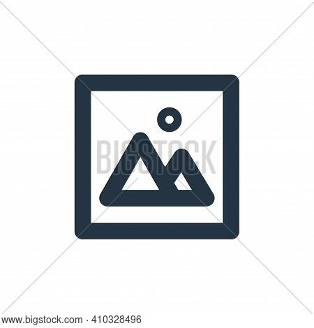image icon isolated on white background from user interface collection. image icon thin line outline