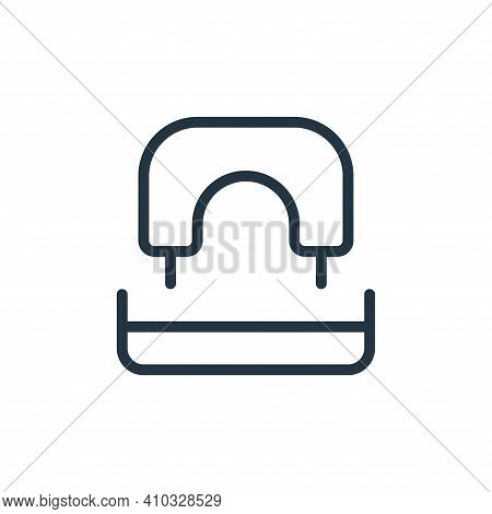 hole puncher icon isolated on white background from work office supply collection. hole puncher icon