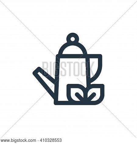 herbal tea icon isolated on white background from medicine collection. herbal tea icon thin line out