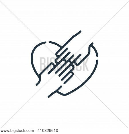 hands icon isolated on white background from hope collection. hands icon thin line outline linear ha