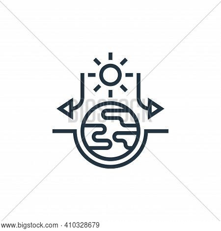 greenhouse effect icon isolated on white background from climate change collection. greenhouse effec