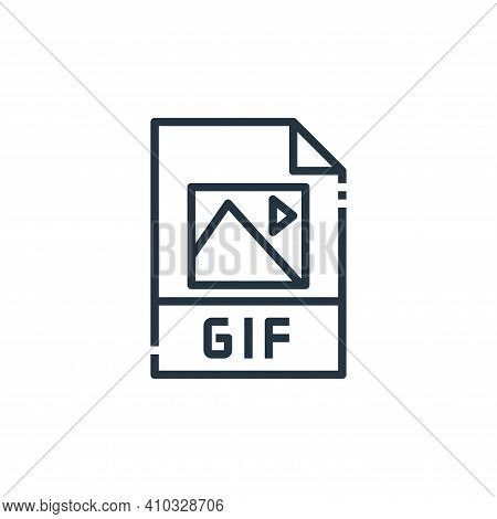 gif file icon isolated on white background from file type collection. gif file icon thin line outlin