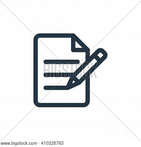 file icon isolated on white background from document and files collection. file icon thin line outli