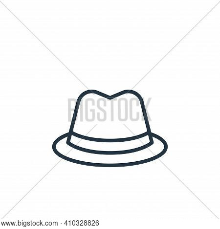 fedora hat icon isolated on white background from wardrobe collection. fedora hat icon thin line out