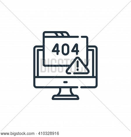 error icon isolated on white background from web development collection. error icon thin line outlin