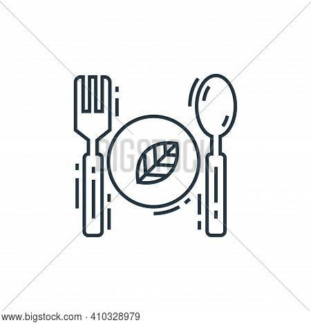 eco food icon isolated on white background from environment and eco collection. eco food icon thin l