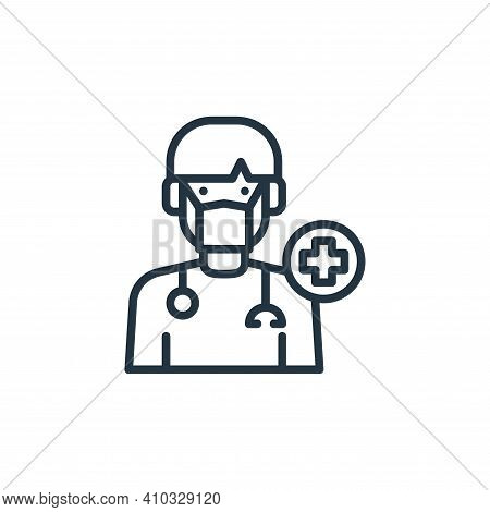 doctor icon isolated on white background from virus collection. doctor icon thin line outline linear
