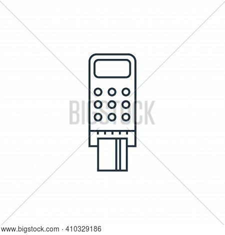 debit payment icon isolated on white background from online shopping collection. debit payment icon