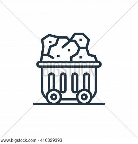 coal icon isolated on white background from climate change collection. coal icon thin line outline l