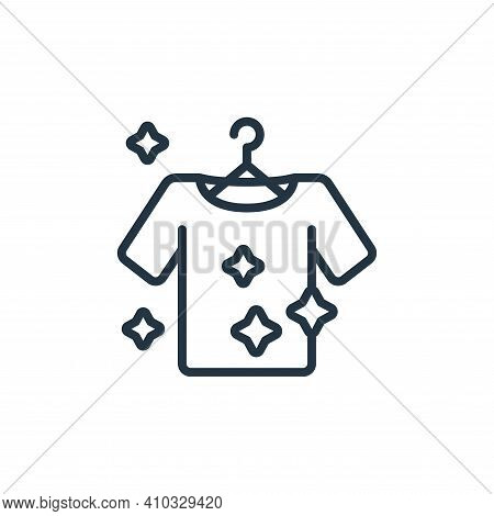 clean clothes icon isolated on white background from hygiene collection. clean clothes icon thin lin