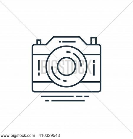 camera icon isolated on white background from technology devices collection. camera icon thin line o