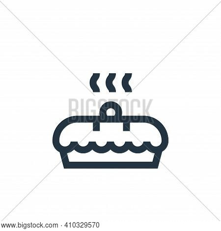 cake icon isolated on white background from hobbies collection. cake icon thin line outline linear c