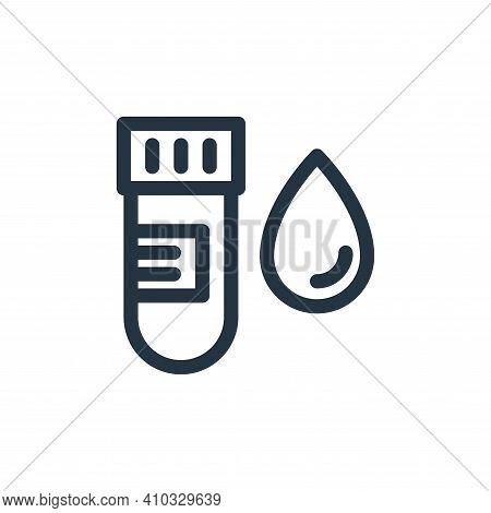 blood sample icon isolated on white background from medical tools collection. blood sample icon thin