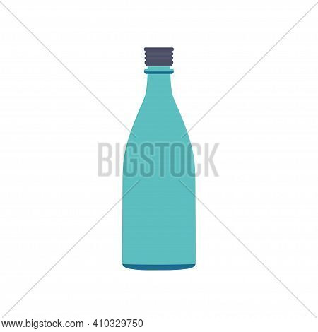 Bottle For Oil, Vinegar Or Souce Isolated On White Background, Kitchen Utensils And Utensils, Illust