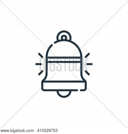 bell icon isolated on white background from calendar and date collection. bell icon thin line outlin