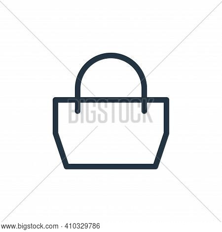 bag icon isolated on white background from fashion collection. bag icon thin line outline linear bag