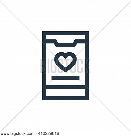 app icon isolated on white background from charity collection. app icon thin line outline linear app