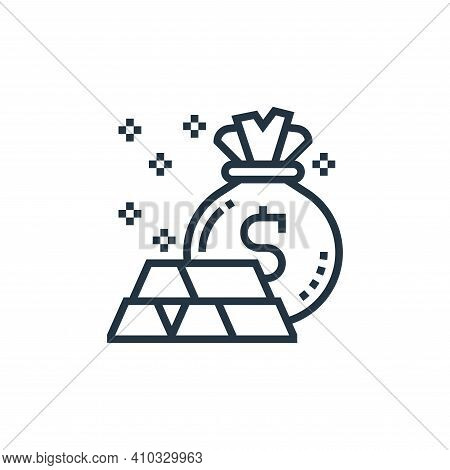 wealth icon isolated on white background from casino collection. wealth icon thin line outline linea