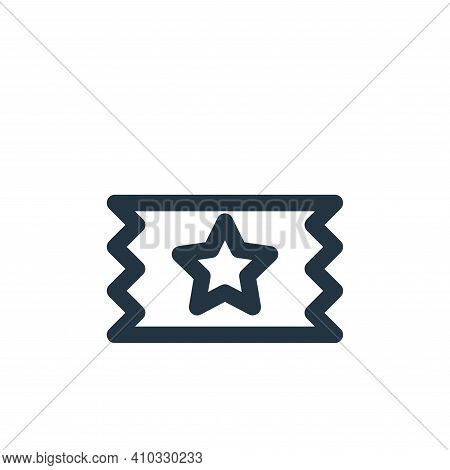 ticket icon isolated on white background from multimedia collection. ticket icon thin line outline l