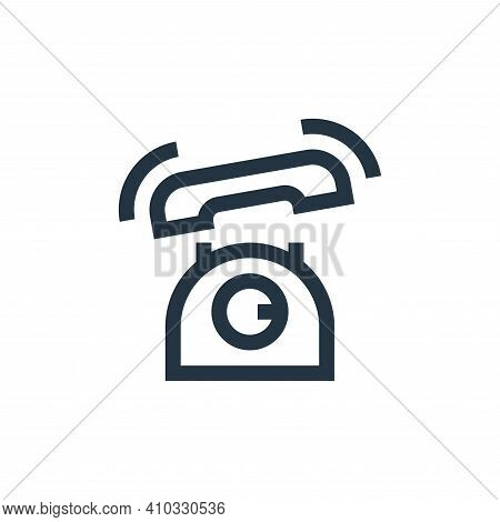 telephone icon isolated on white background from news collection. telephone icon thin line outline l