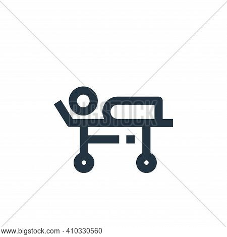 stretcher icon isolated on white background from medical kit collection. stretcher icon thin line ou