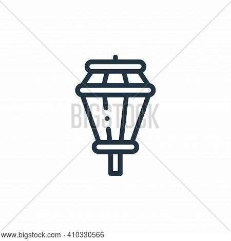 street lights icon isolated on white background from holland collection. street lights icon thin lin