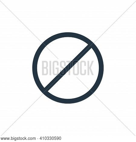 stop icon isolated on white background from interface collection. stop icon thin line outline linear