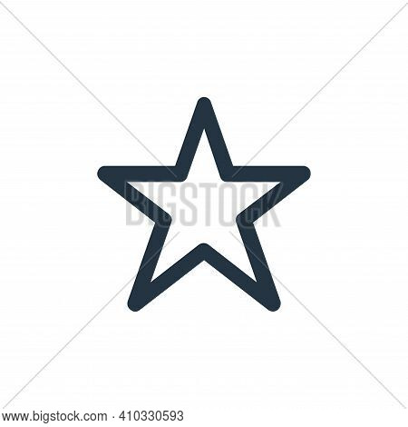 star icon isolated on white background from user interface collection. star icon thin line outline l