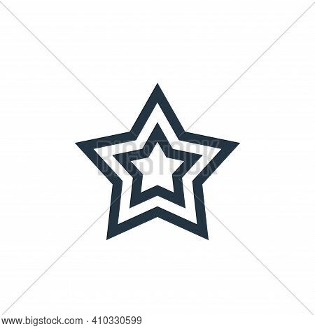star icon isolated on white background from video game elements collection. star icon thin line outl