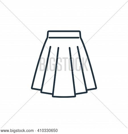 skirt icon isolated on white background from clothes and outfit collection. skirt icon thin line out