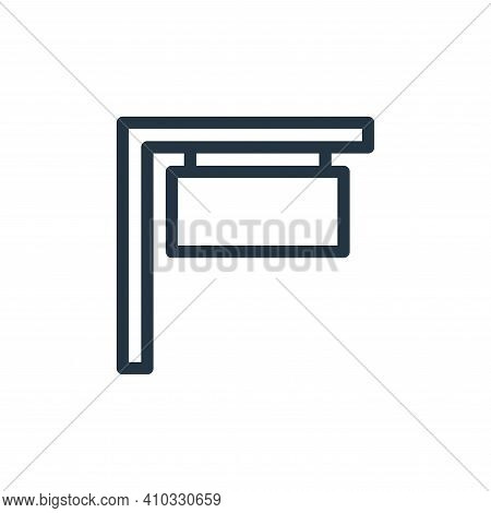 signboard icon isolated on white background from holiday collection. signboard icon thin line outlin