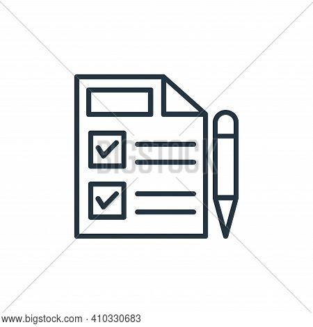 shopping list icon isolated on white background from shopping line icons collection. shopping list i