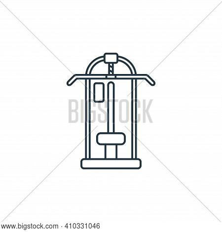 pull up bar icon isolated on white background from fitness collection. pull up bar icon thin line ou