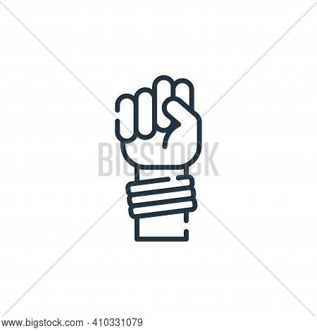 protest icon isolated on white background from hippies collection. protest icon thin line outline li