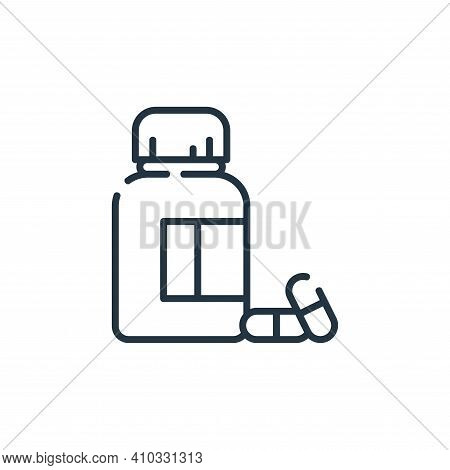 pills icon isolated on white background from dental care collection. pills icon thin line outline li