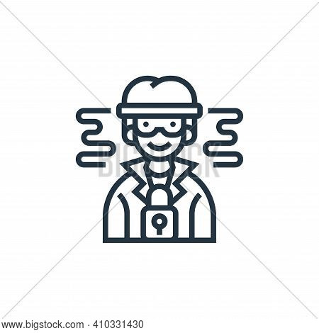 personal icon isolated on white background from confidential information collection. personal icon t