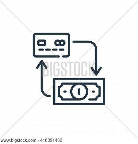 payment icon isolated on white background from mall collection. payment icon thin line outline linea