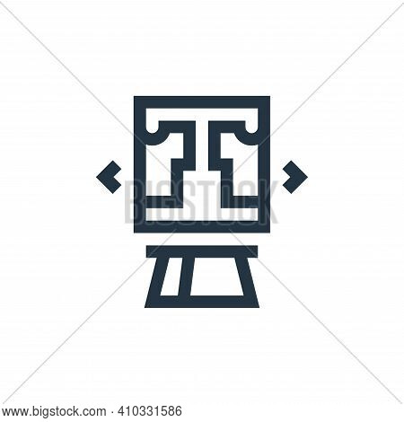 online shopping icon isolated on white background from payment collection. online shopping icon thin