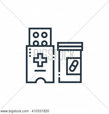 medicines icon isolated on white background from medical services collection. medicines icon thin li