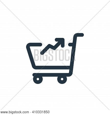 marketing icon isolated on white background from web apps seo collection. marketing icon thin line o