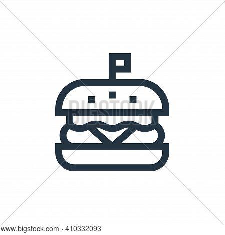 hamburger icon isolated on white background from united states of america collection. hamburger icon